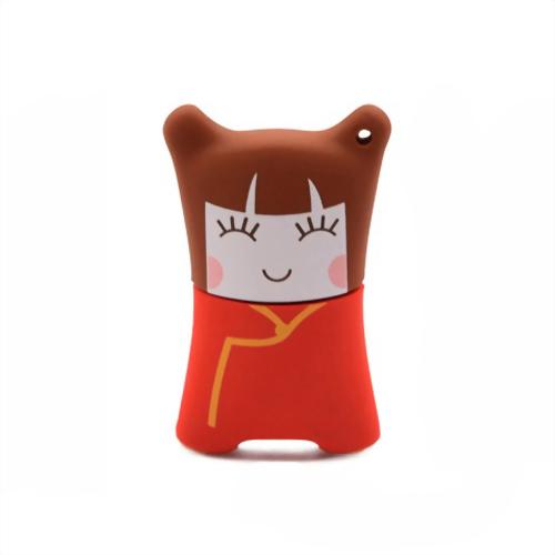 Xebe集比 8G 女中國娃娃造型USB隨身碟