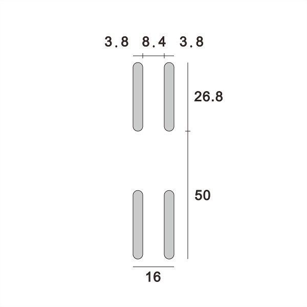 (AW003-50P) Wall upright