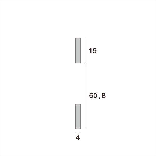 (AW015-50.8P) Wall upright