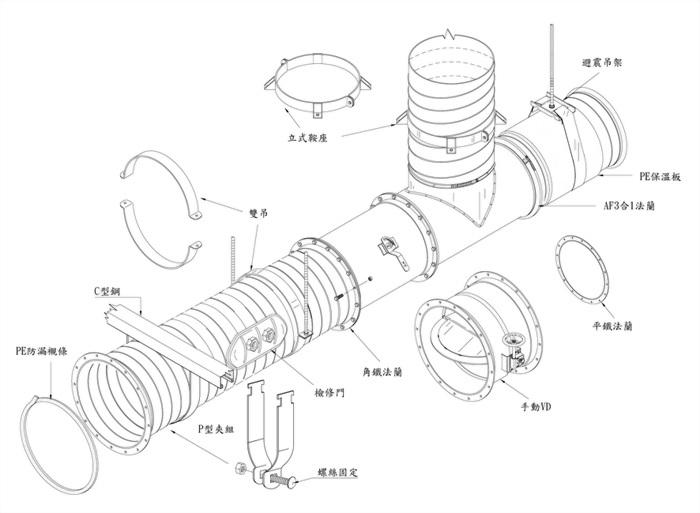 螺旋風管施工大樣圖 2