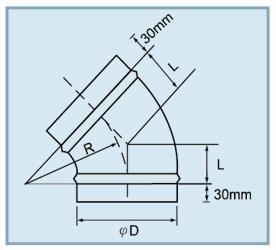 ME 45 45°模型彎頭 2
