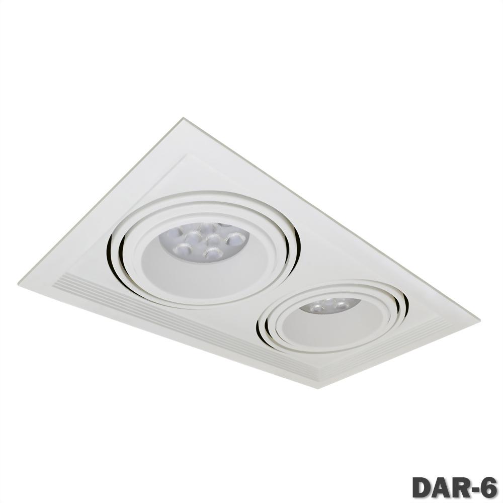 AR111 有邊框 雙燈盒燈