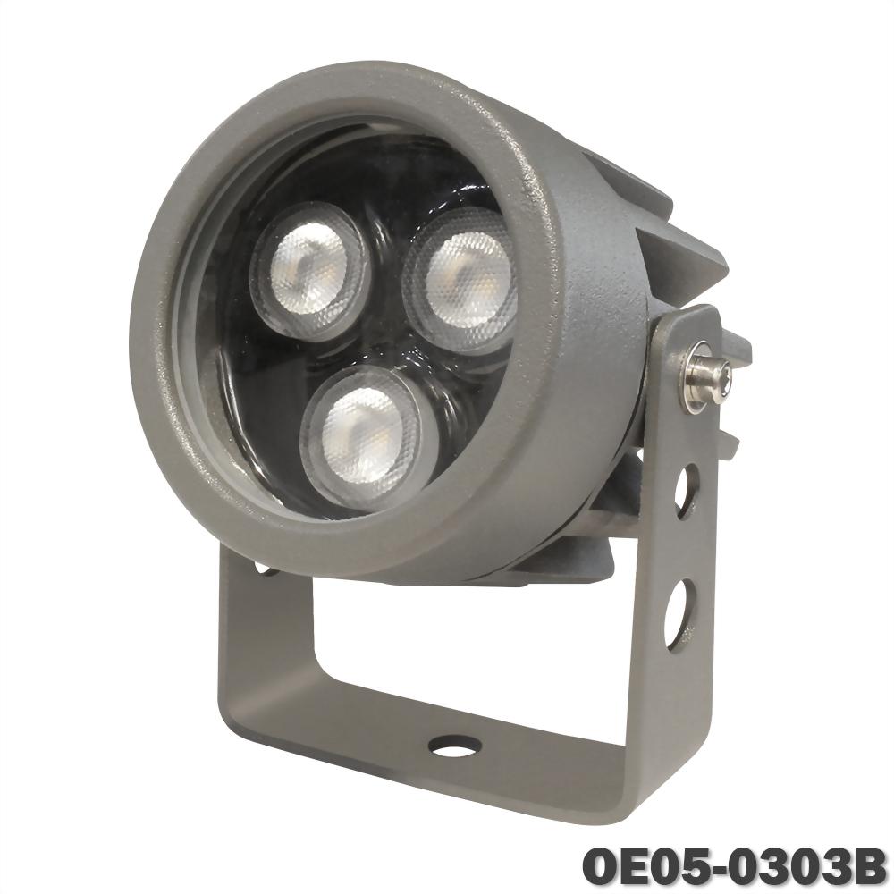 5W 3燈 深灰戶外壓鑄投射燈