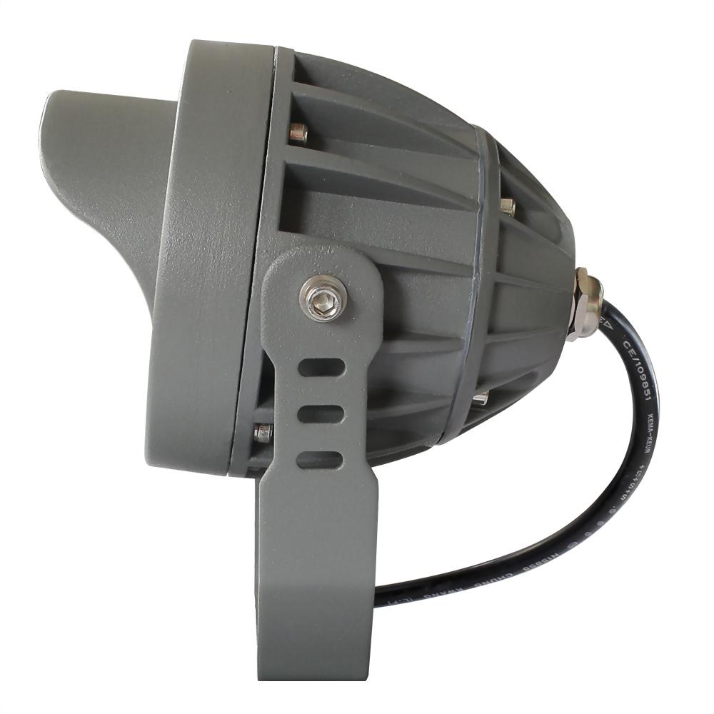 11W 9燈 深灰戶外壓鑄投射燈(戴帽版)