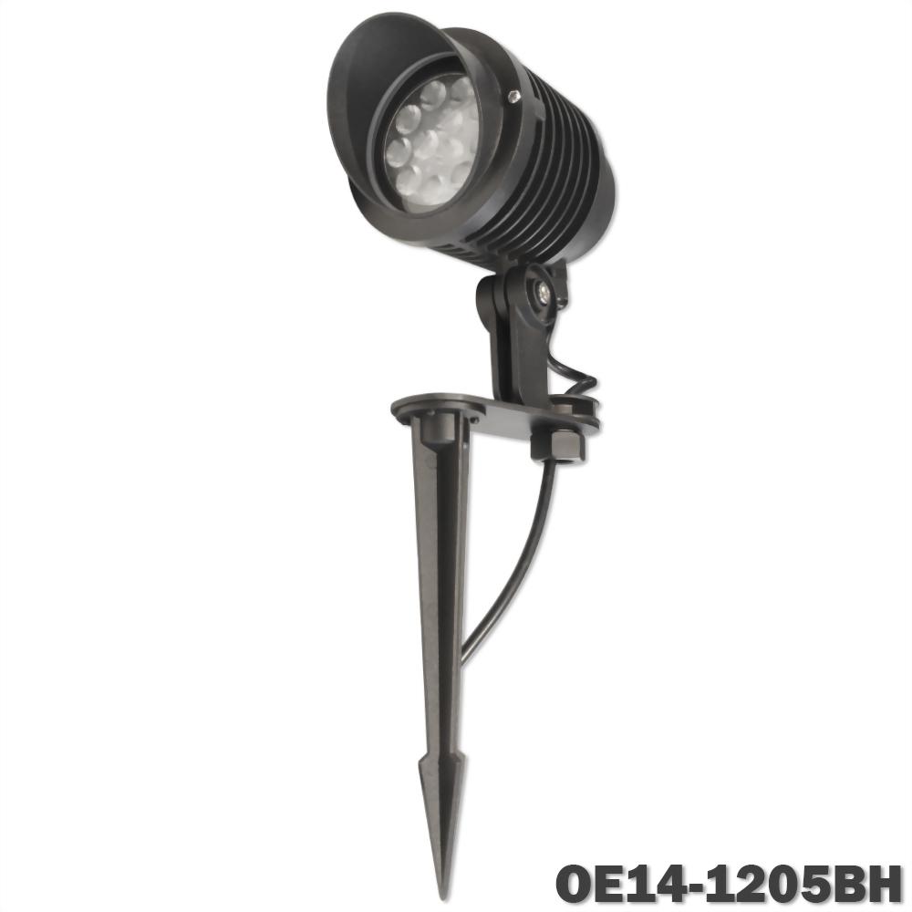 14W 12燈 深灰戶外壓鑄投射燈