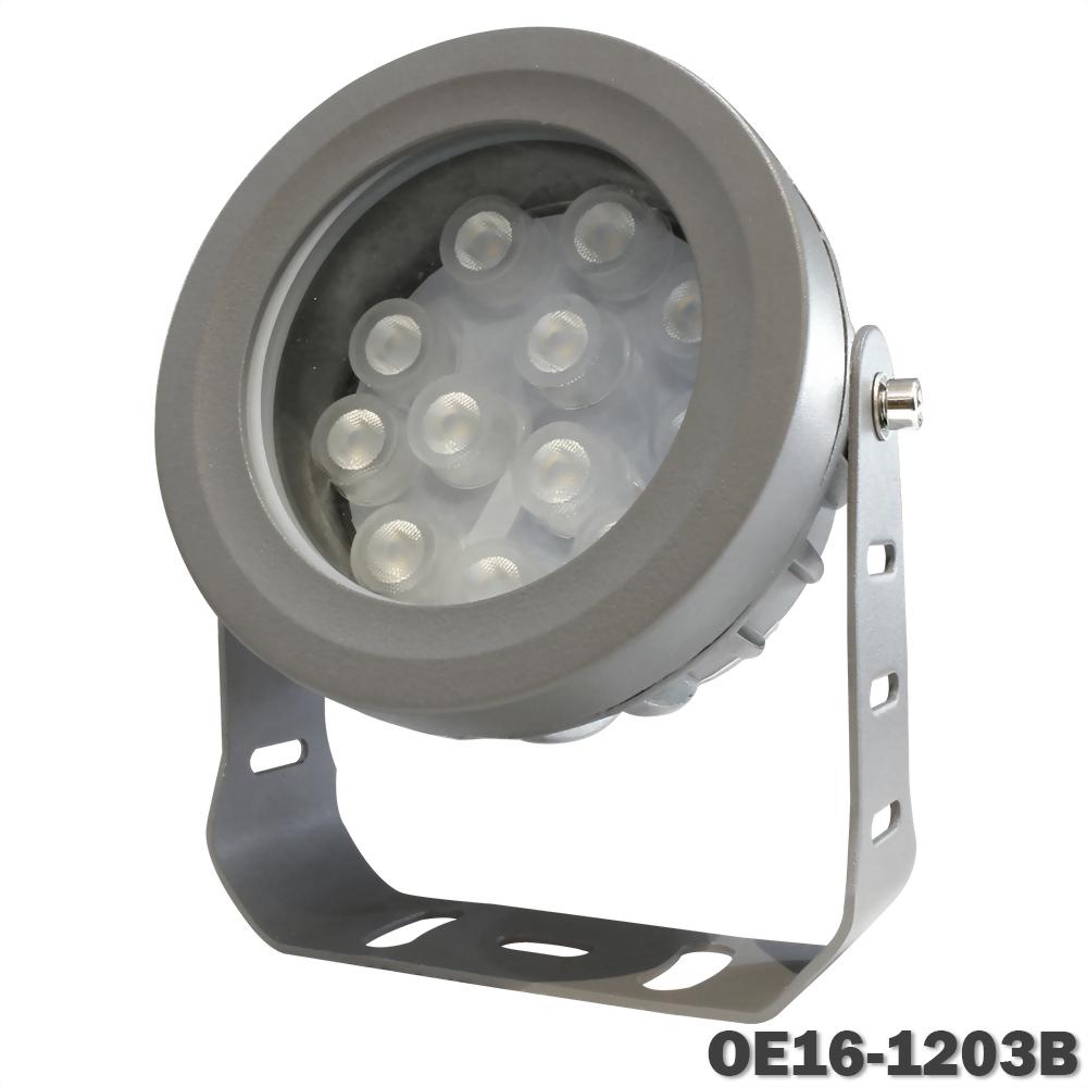 16W 12燈 深灰戶外壓鑄投射燈