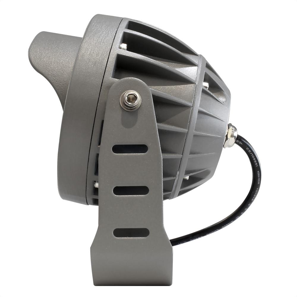 16W 12燈 深灰戶外壓鑄投射燈(戴帽版)