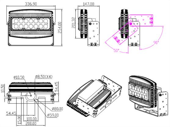 200W模組型投光燈
