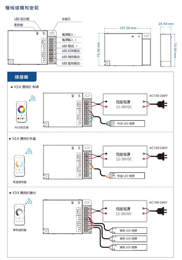 3×(120-240)W 控制器