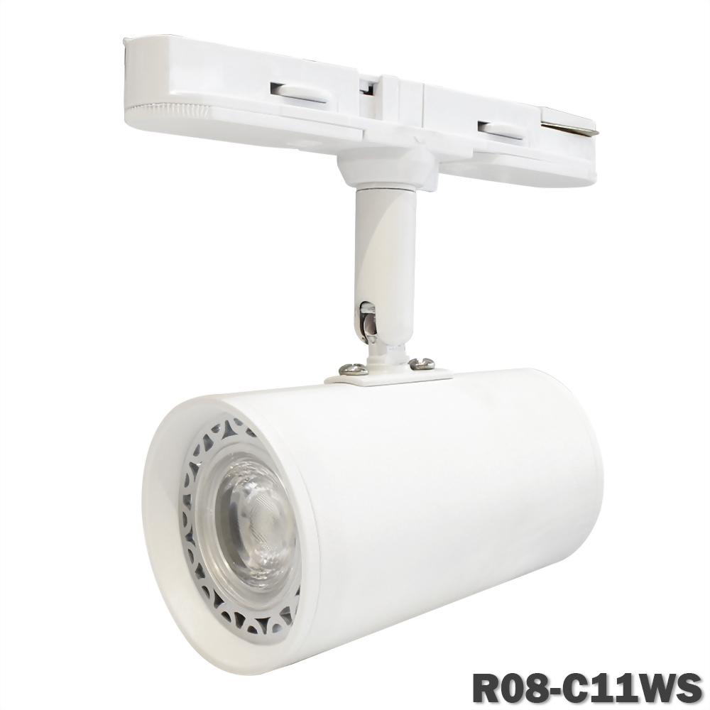 8W COB Nichia 短型錐狀圓筒軌道燈(一字軌道盒)