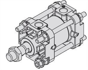 Single rod, Double acting, JIS Cylinder ASCA