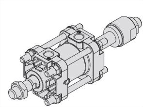 Double rods, Double acting, JIS Cylinder ASCD