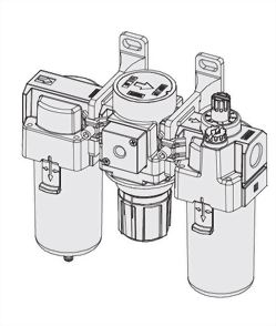 3-piece Combo Particulate Filters+Regulators+Lubricators