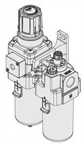 2-piece Combo Particulate Filters+Regulators+Lubricators