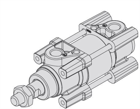 Standard type, Single rod, Double acting, ISO 15552 Cylinder ACPA