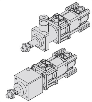 Standard type, Single rod, Double acting, ISO 15552 Cylinder ACPH