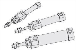 Double-acting round cylinder-ISJA