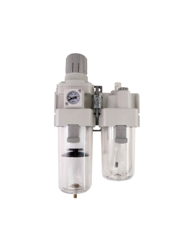 2-piece Combo Particulate Filters+Regulators+Lubricators