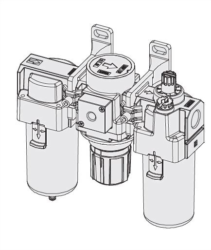 3 Piece Combo Particulate Filtersregulatorslubricators