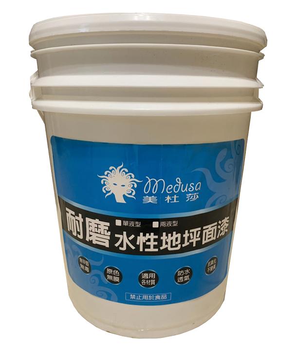 Wear-resistant water-based floor finish (single-liquid type)