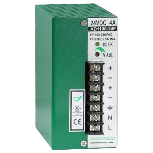 DIN Rail Power Supply 100W, Single Output