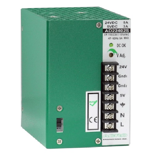 DIN Rail Power Supply 240W, Dual Output