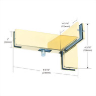 Left Hand Sidelite Mounted Transom Patch with Support Fin Bracke