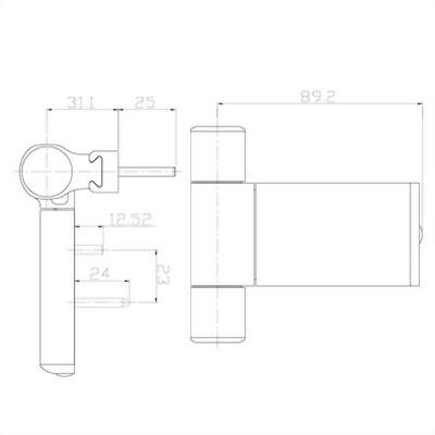 3D Aluminum hinge-DH3DAL6 series