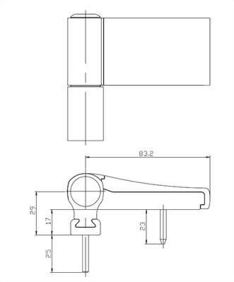 3D Aluminum hinge (MK II)