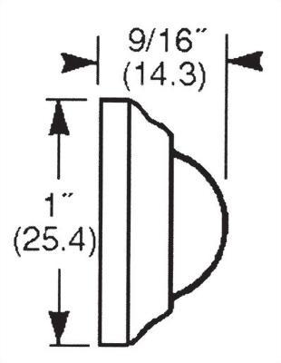 CONVEX MINIATURE WALL DOOR STOP (DA-WS31)
