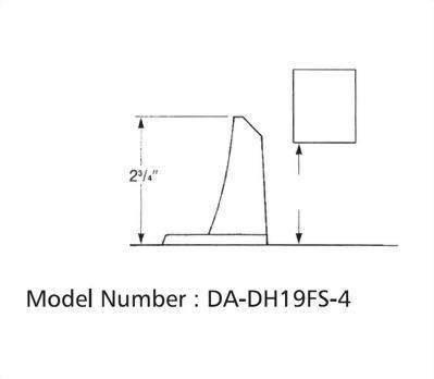 FLOOR MOUNTED ADJUSTABLE AUTOMATIC HOLDER HEAVY DUTY (DA-DH19F)