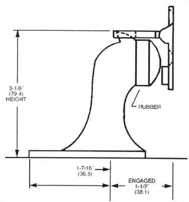 FLOOR DOOR STOP AND HOLDER (DA-FS23)