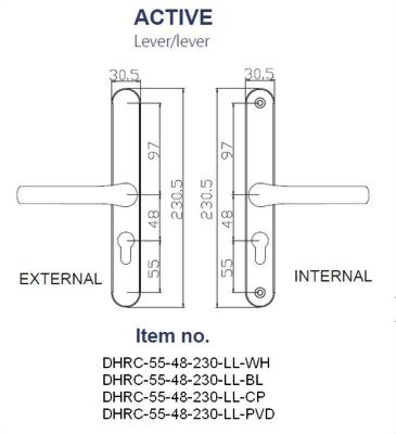 Replacement Door Handle Series-230MM BACK PLATE