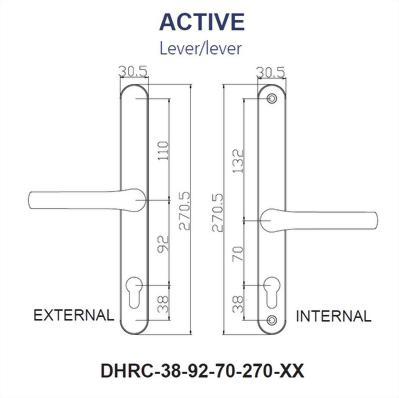 Replacement Door Handle Series-270MM BACK PLATE
