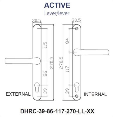 Replacement Door Handle Series-270MM BACK PLATE