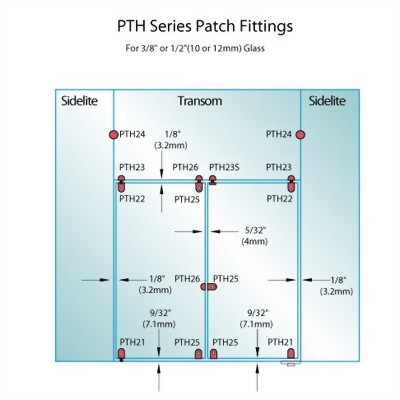 PF Series Patch Fittings - Glass Mounted Patch Lock Keeper