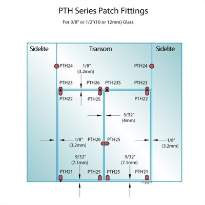 PF Series Patch Fittings - Top Door Patch