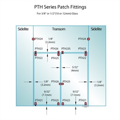 PF Series Patch Fittings - Top Transom Pivot Patch