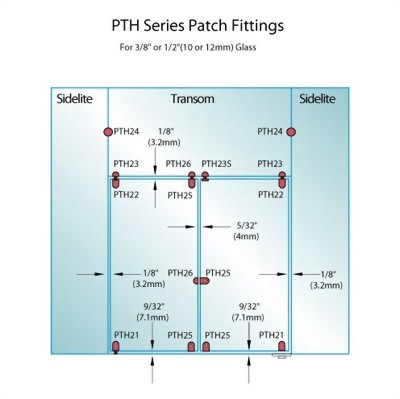 PF Series Patch Fittings - Bottom Door Patch