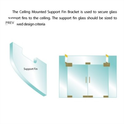 Ceiling Mounted Support Fin Bracket and Cover Plates