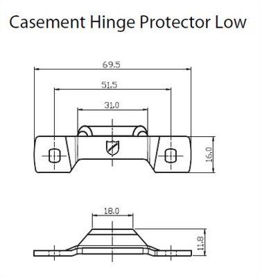 CASEMENT HINGE PROTECTOR