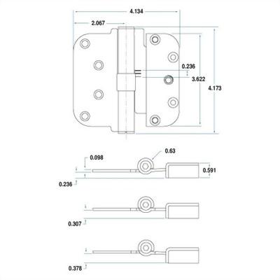 Adjustable Door Hinge - 1220 Series