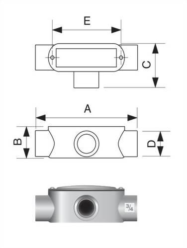 T型電管穿線匣