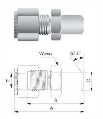 外管對焊接頭