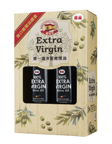 泰山 第一道冷壓橄欖油 500cc 6瓶(禮盒裝3入)