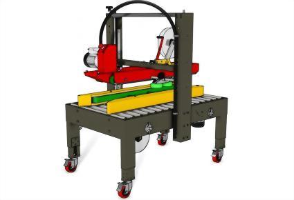 Carton Sealing Machines / Top & Bottom Seal   Uniform Carton Sizes / PW-554TS