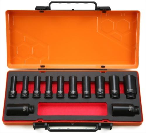 "1/2"" 12 Pcs Deep Impact Socket kit (Chrome-Molybdenum Steel)"