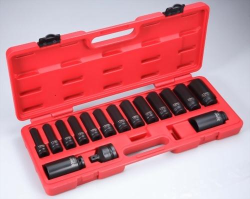 "1/2"" 16 Pcs  Deep Impact Socket kit (Chrome-Molybdenum Steel)"