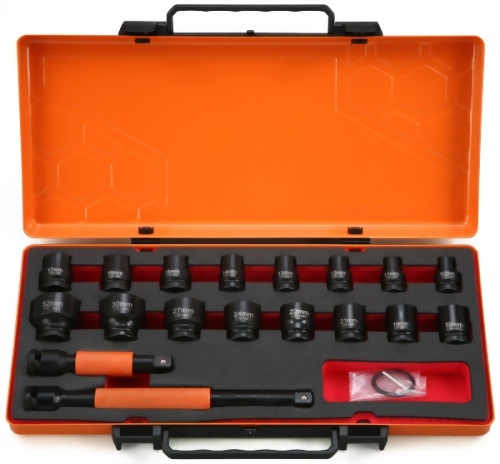 "1/2"" 18 Pcs  Impact Socket kit (Chrome-Molybdenum Steel)"