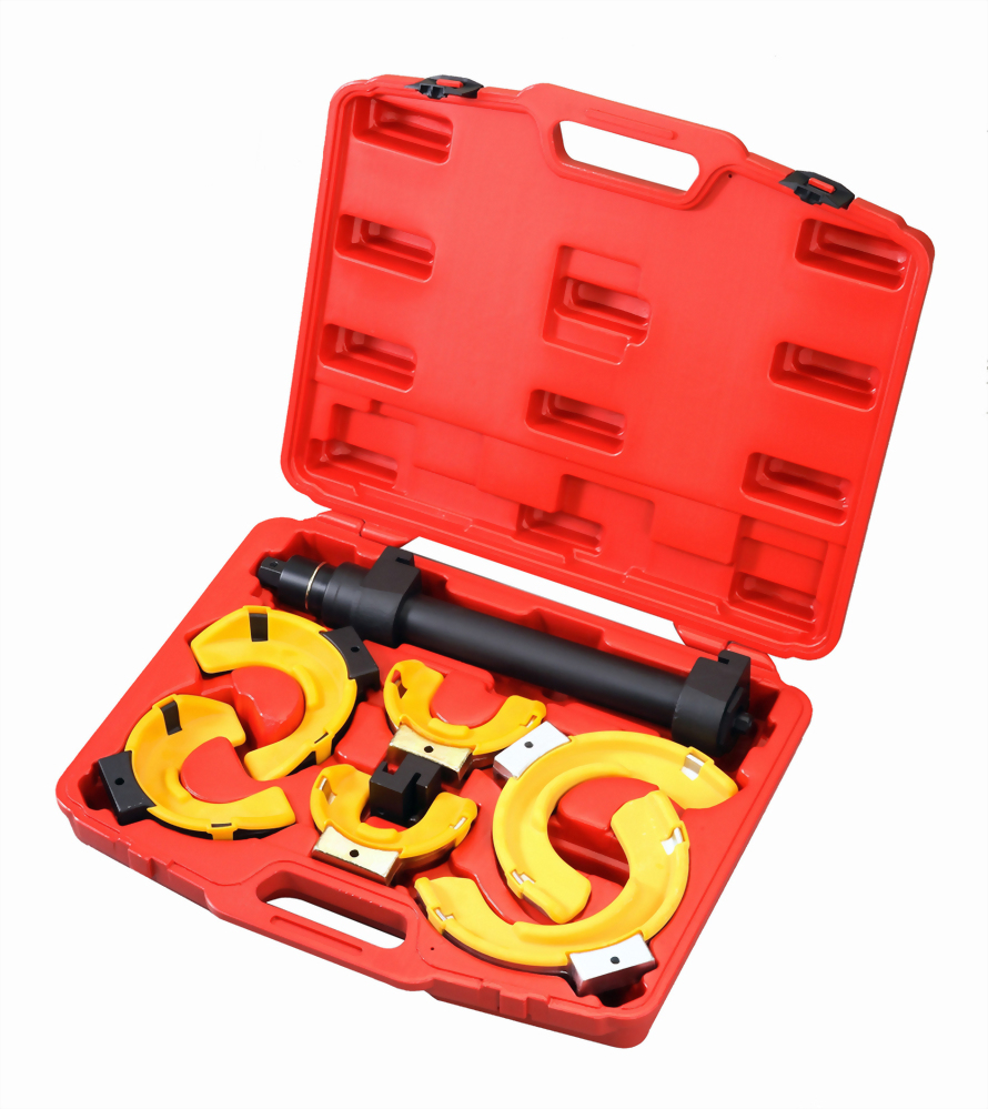 Macpherson Damper Spring Extractor with replaceable Jaws and plastic Cover (Air Wrench)